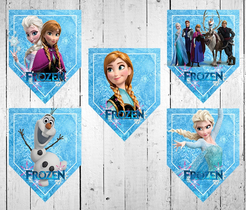 Frozen Birthday Banner Printable Frozen Banner Party By: Chandeliers & Pendant Lights