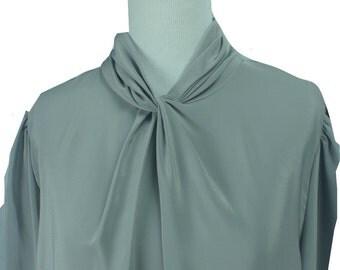 John's Girl Collectables Blouse, Larger size Vintage Secretary Blouse, Vintage Top, Vintage Blouse, Secretary Blouse