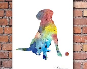 Labrador Retriever Art Print - Watercolor - Abstract Painting - Wall Decor
