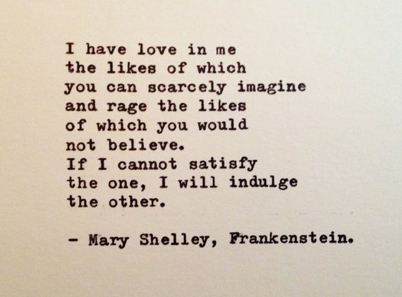 important quotes frankenstein Free summary and analysis of the quotes in mary shelley s frankenstein that won t make you snore we promise.