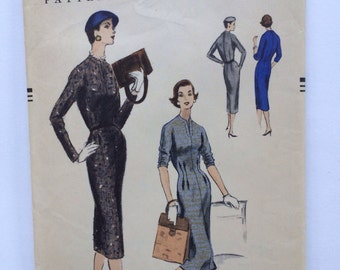 Vintage 1955 Vogue Pattern 8720 Size 12  Bust 30