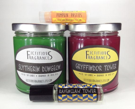 Harry Potter Gift Set -- Themed Candle Perfume and Lip set for Potterheads -- Comes Gift Ready
