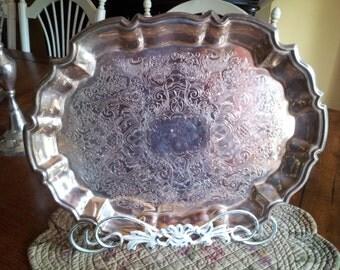 Beautiful Small Silver Platter