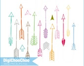 Hand Drawn Arrow Clip Art, For Personal and Small Commercial Use. DC 0002.