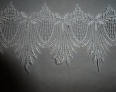 Beautiful Lace in White Victorian Looking Scalloped Embroidered Lace