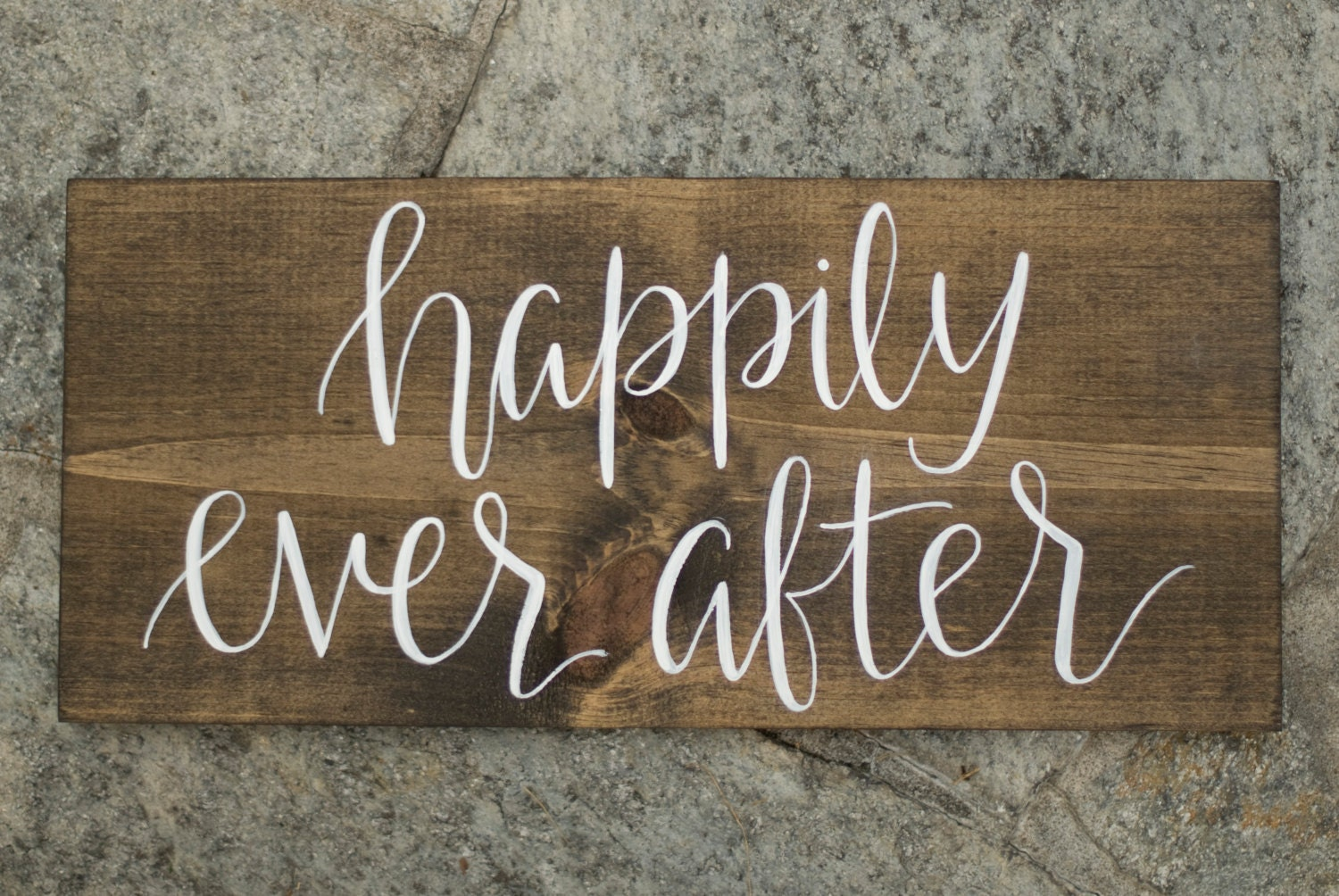 happily ever after wood sign hand lettered by heartcraftedco With hand lettered wooden signs