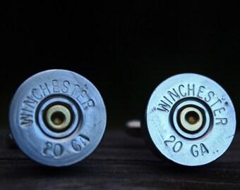 20 Gauge Cufflinks - Shotgun Shell - Spent Rounds - Mens Accessories & Wear - Ammo Jewelry - Wedding Set - Groomsmen