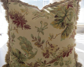 """Cotton Floral Decorative Pillow Cover (20""""x 20"""")"""
