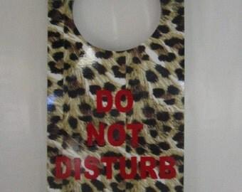 Safari Sign Do Not Disturb Door Hanger