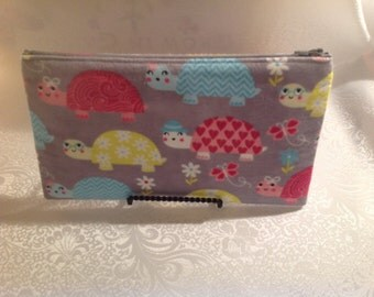 Turtle Zippered Pouch