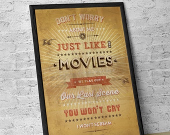 Retro Typographic Lyrical Poster