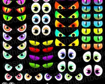 Spooky Eyes Clipart, 39 Halloween Eyes Clipart, Creature Eyes Clipart ...