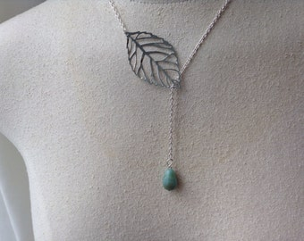 Branch and Amazonite Necklace