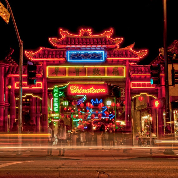 chinatown los angeles city neon lights night light. Black Bedroom Furniture Sets. Home Design Ideas