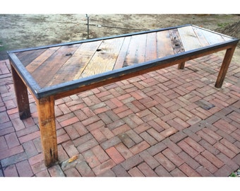 Reclaimed dinning table 9ft x 3ft