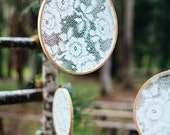 Lace Wedding Decor - Embroidery Hoops - Set of 6