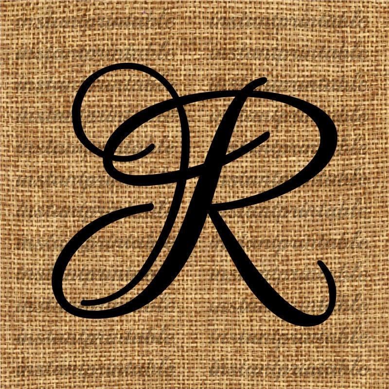 Monogram Initial Letter R Letter Clip Art Letter Decal