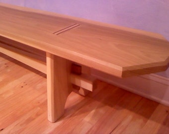 Natural wood bench zero VOC non-toxic and beautiful