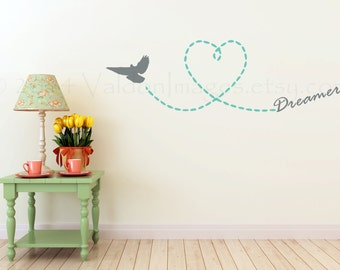 Let Your Dreams Soar Bird Wall Decal, Inspirational Wall Decal, Bedroom  Wall Decal,