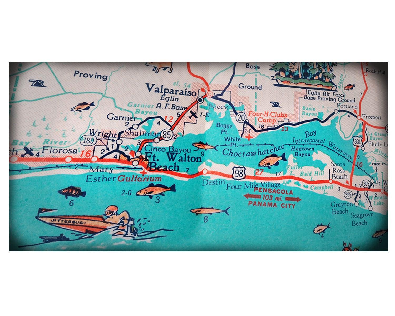 Destin Etsy - Florida map destin beach