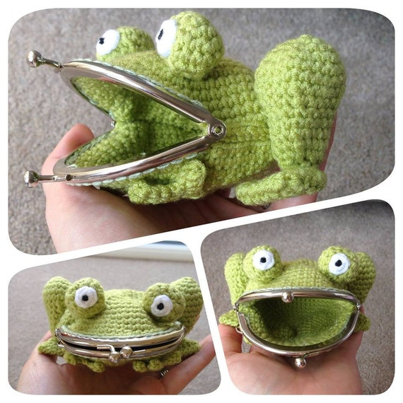 Frog Coin Purse Crochet Pattern