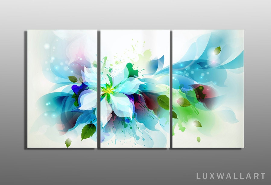 multi panel flower abstract metal wall art ready to hang