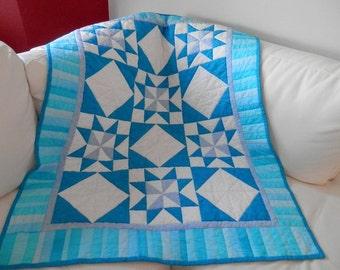 Dreams of Blue Crib, lap or wheelchair quilt