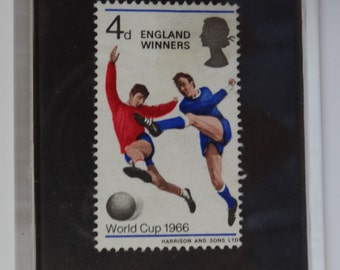 World Cup 1966 British Postage stamp Fridge magnet England Winners Football  4d handcrafted acrylic retro