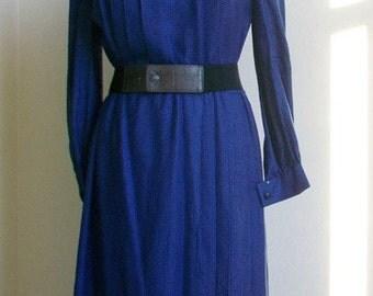 Vintage Nina Ricci Dress Metal Zipper Paris France Designer Dress