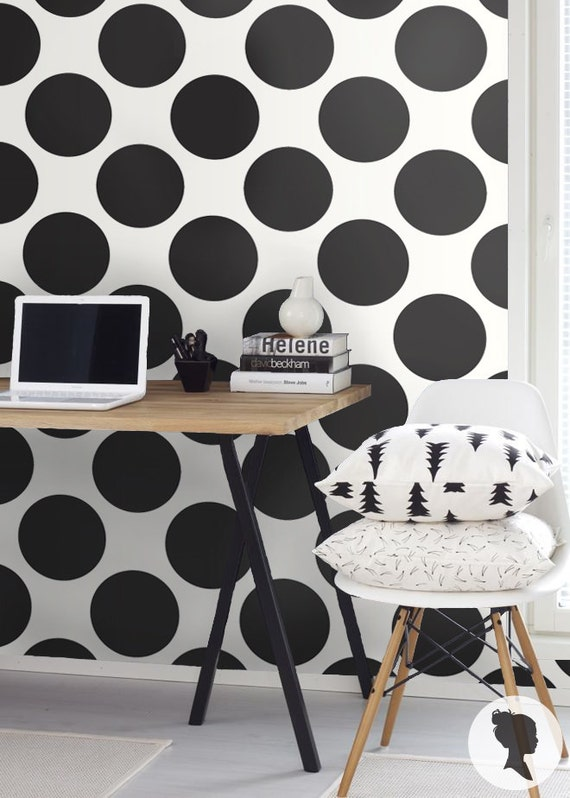 Self Adhesive Polka Dot Pattern Vinyl Wallpaper D116