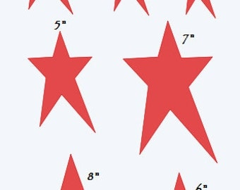 """Primitive Star STENCIL with 11 total** Sizes 1""""-8""""  for Painting Signs, Scrapbook, Airbrush, Crafts, Wall Decor"""