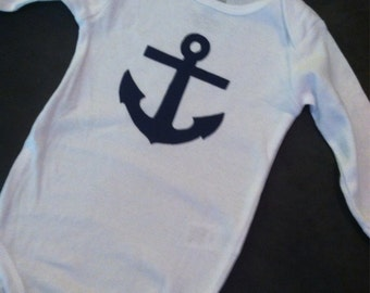 Navy blue anchor outfit!