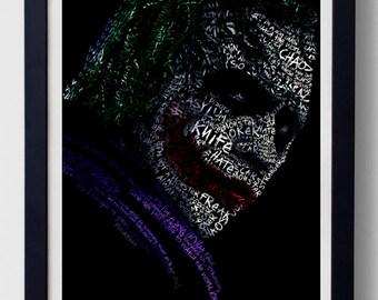 Joker from Dark Knight text poster