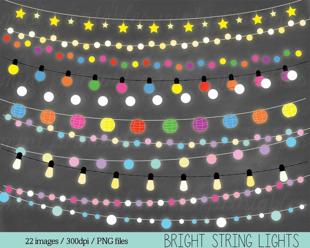 Christmas String Lights Clipart : Fairy Lights Clipart String Lights Clip Art Christmas