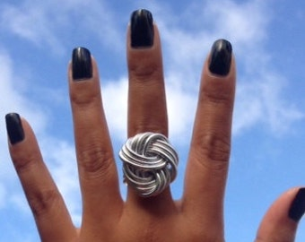 SILVER CLOUD Knot Ring // Silver Ring