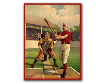 Retro Baseball Art Wall Poster Print Sports Art Decor (H73)
