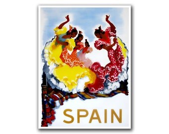 Spain Art Vintage Travel Poster Spanish Decor (H135)