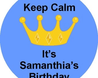 Keep Calm Personalized  Birthday Labels