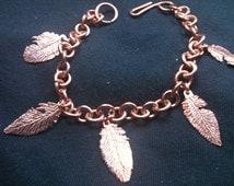 Ruffled Feather Bracelet.