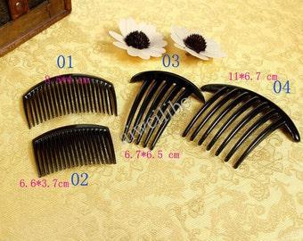 10 pcs Black Plastic Hair Combs Diy Hair Accessories