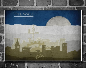 Game of Thrones poster movie art minimalist poster geekery art print sci fi print Castle Black