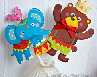 Circus cake topper, BigTop cake topper, Carnival wedding cake topper, Circus themed wedding, carnival themed wedding