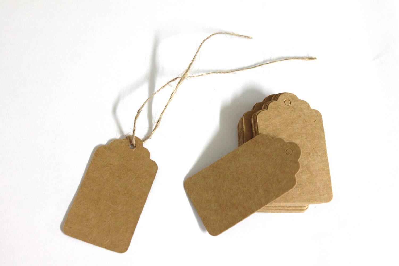 100 small brown kraft tags gift tags wedding favor tags 2 for Small tags for wedding favors