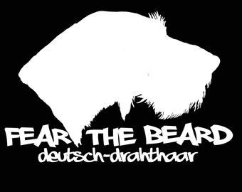 Fear the Beard DEUTSCH-DRAHTHAAR vinyl decal