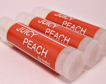 Juicy Peach Lip Balm - Natural Handmade Chapstick