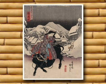 Japanese Art Poster Asian Decor Japan Art Print (J7)