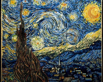 Vincent Van Gogh -Starry Night Reproduction Mosaic
