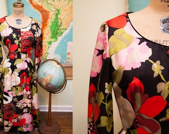 Vintage 1960s Saks Fifth Avenue Floral Dress // Size 4 - 6