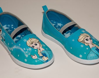 Hand Painted Shoes Frozen Elsa And Olaf Only Frozen