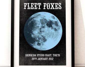 Fleet Foxes poster art, Fleet Foxes poster print, music inspired print, Fleet Foxes gig poster, Fleet Foxes, Fleet Foxes concert poster